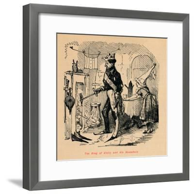 'The King of Sicily and his Household',-John Leech-Framed Giclee Print