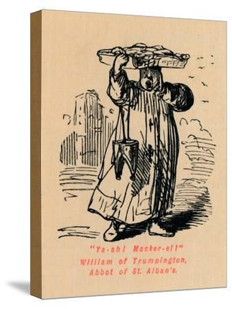 'Ya-ah! Macker-el! William of Trumpington, Abbot of St. Alban's',-John Leech-Stretched Canvas Print