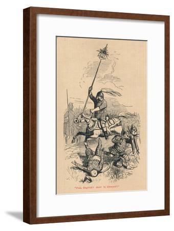 Flee, English! Dead is Edmond!', c1860, (c1860)-John Leech-Framed Giclee Print