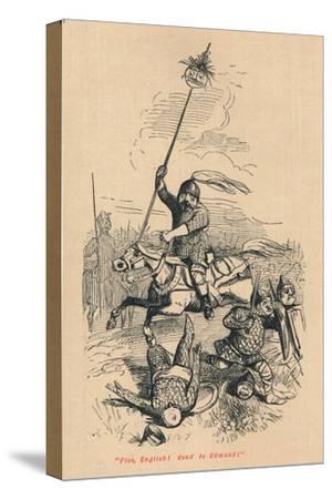 Flee, English! Dead is Edmond!', c1860, (c1860)-John Leech-Stretched Canvas Print