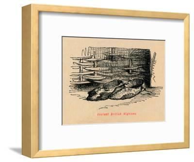 'Ancient British Highlows', c1860, (c1860)-John Leech-Framed Giclee Print