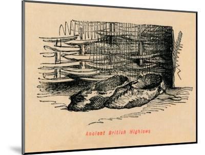 'Ancient British Highlows', c1860, (c1860)-John Leech-Mounted Giclee Print
