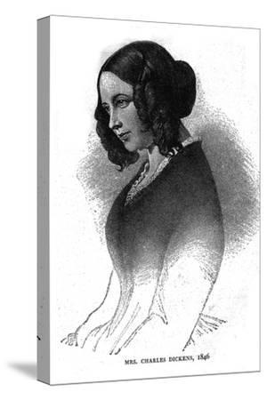 Mrs. Charles Dickens, 1846-Unknown-Stretched Canvas Print