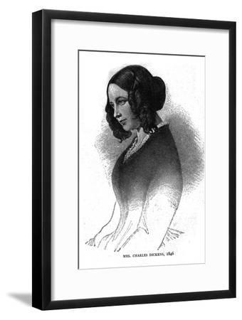 Mrs. Charles Dickens, 1846-Unknown-Framed Giclee Print