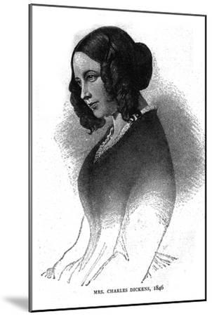 Mrs. Charles Dickens, 1846-Unknown-Mounted Giclee Print