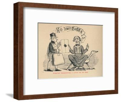 'Ethelred despatching a Letter by his Son', c1860, (c1860)-John Leech-Framed Giclee Print