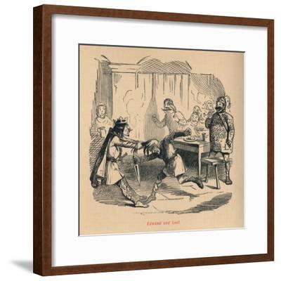 'Edmund and Leof', c1860, (c1860)-John Leech-Framed Giclee Print