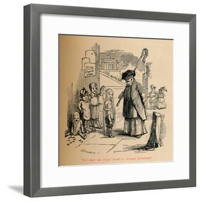'Non Angli sed Angeli forent si fuissent Christiani', c1860, (c1860)-John Leech-Framed Giclee Print