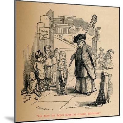 'Non Angli sed Angeli forent si fuissent Christiani', c1860, (c1860)-John Leech-Mounted Giclee Print