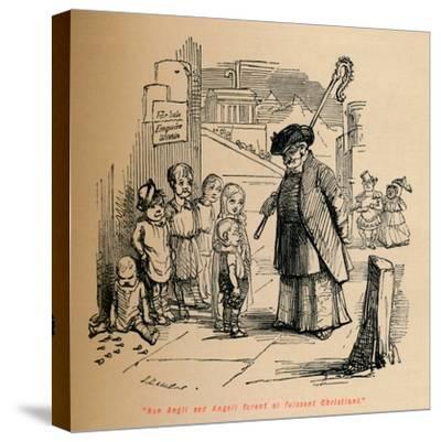 'Non Angli sed Angeli forent si fuissent Christiani', c1860, (c1860)-John Leech-Stretched Canvas Print