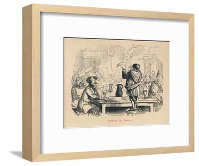 'Reading the Dream', c1860, (c1860)-John Leech-Framed Giclee Print