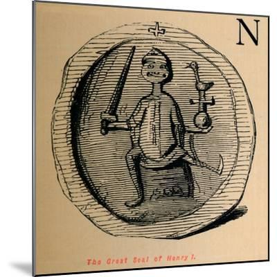 'The Great Seal of Henry I', c1860, (c1860)-John Leech-Mounted Giclee Print