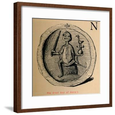 'The Great Seal of Henry I', c1860, (c1860)-John Leech-Framed Giclee Print