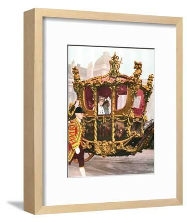 King George V and Queen Mary in the historic State Coach, c1935-Unknown-Framed Giclee Print