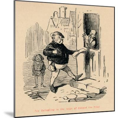 'Tax Collecting in the reign of Edward the First', c1860, (c1860)-John Leech-Mounted Giclee Print