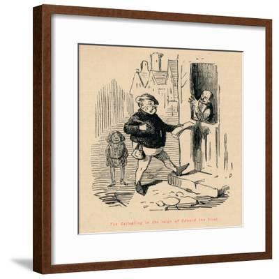 'Tax Collecting in the reign of Edward the First', c1860, (c1860)-John Leech-Framed Giclee Print
