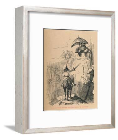 'Prince Arthur requires his Grandmother to surrender', c1860, (c1860)-John Leech-Framed Giclee Print