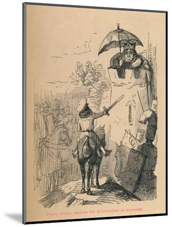'Prince Arthur requires his Grandmother to surrender', c1860, (c1860)-John Leech-Mounted Giclee Print