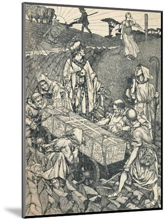 'The Legend of St. Cuthbert, Pen Drawing', 1891-1920, (1923)-Robert Spencer-Mounted Giclee Print