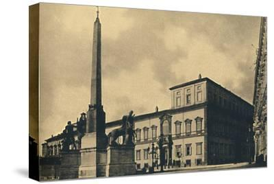 'Roma - The Quirinal Palace and Fountain', 1910-Unknown-Stretched Canvas Print