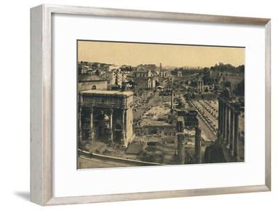 'Roma - General View of the Roman Forum', 1910-Unknown-Framed Giclee Print