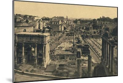 'Roma - General View of the Roman Forum', 1910-Unknown-Mounted Giclee Print