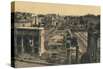 'Roma - General View of the Roman Forum', 1910-Unknown-Stretched Canvas Print