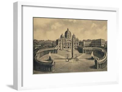 'Roma - Basilica and Square of S. Peter. Vatican Palace', 1910-Unknown-Framed Giclee Print