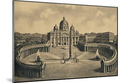 'Roma - Basilica and Square of S. Peter. Vatican Palace', 1910-Unknown-Mounted Giclee Print