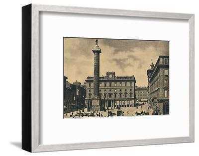 ''Roma - Square and Column of Marcus Aurelius', 1910-Unknown-Framed Photographic Print