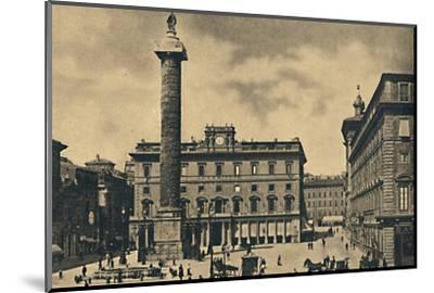 ''Roma - Square and Column of Marcus Aurelius', 1910-Unknown-Mounted Photographic Print