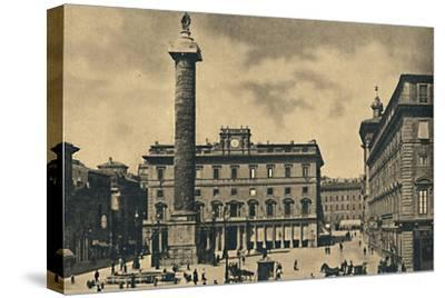 ''Roma - Square and Column of Marcus Aurelius', 1910-Unknown-Stretched Canvas Print