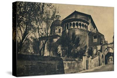 'Roma - Clivus Scauri and Apse of the Church of SS. Giovanni and Paolo on the Caelian Hill', 1910-Unknown-Stretched Canvas Print