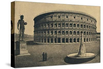 'Roma - Imaginary reconstruction of the Colosseum', 1910-Unknown-Stretched Canvas Print