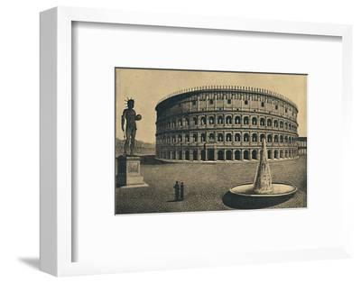 'Roma - Imaginary reconstruction of the Colosseum', 1910-Unknown-Framed Photographic Print