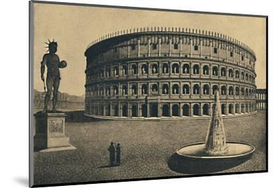 'Roma - Imaginary reconstruction of the Colosseum', 1910-Unknown-Mounted Photographic Print