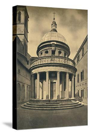 'Roma - Temple by Bramante in the Cloisters of S. Pietro in Montorio on the Janiculum Hill', 1910-Unknown-Stretched Canvas Print