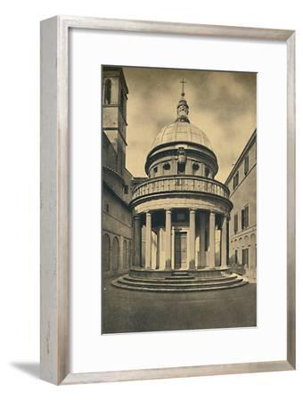 'Roma - Temple by Bramante in the Cloisters of S. Pietro in Montorio on the Janiculum Hill', 1910-Unknown-Framed Giclee Print