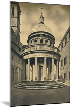'Roma - Temple by Bramante in the Cloisters of S. Pietro in Montorio on the Janiculum Hill', 1910-Unknown-Mounted Giclee Print