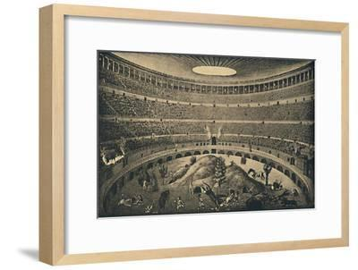 'Roma - Colosseum - Reconstruction of a hunt of wild animals', 1910-Unknown-Framed Giclee Print