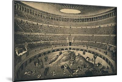 'Roma - Colosseum - Reconstruction of a hunt of wild animals', 1910-Unknown-Mounted Giclee Print