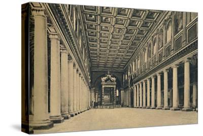 'Roma - S. Maria Maggiore. Main nave,', 1910-Unknown-Stretched Canvas Print