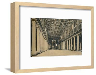 'Roma - S. Maria Maggiore. Main nave,', 1910-Unknown-Framed Photographic Print
