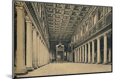 'Roma - S. Maria Maggiore. Main nave,', 1910-Unknown-Mounted Photographic Print