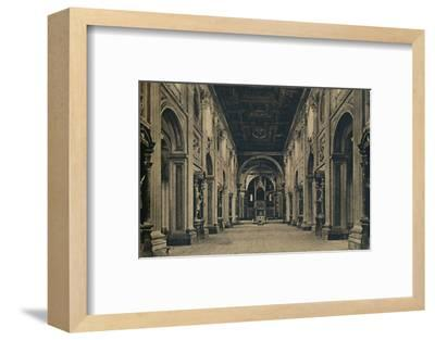 'Roma - Main nave of the Basilica of St. John Lateran (Borromini, arch. 1650)', 1910-Unknown-Framed Photographic Print