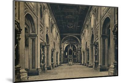 'Roma - Main nave of the Basilica of St. John Lateran (Borromini, arch. 1650)', 1910-Unknown-Mounted Photographic Print