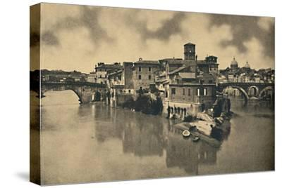 'Roma - Tiberine Island and the ancient Bridges Caestius and Fabritius', 1910-Unknown-Stretched Canvas Print