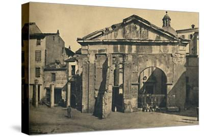 'Roma - Portico of Octavia ', 1910-Unknown-Stretched Canvas Print