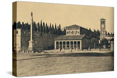 ''Roma - Basilica di S. Lorenzo fuori le Mura', 1910-Unknown-Stretched Canvas Print