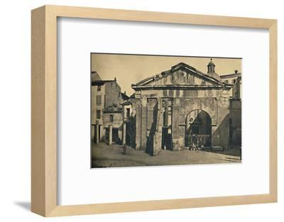 'Roma - Portico of Octavia ', 1910-Unknown-Framed Photographic Print
